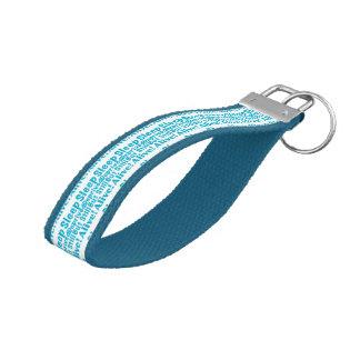 Sleep Deprived But Still Alive in Blue Wrist Keychain