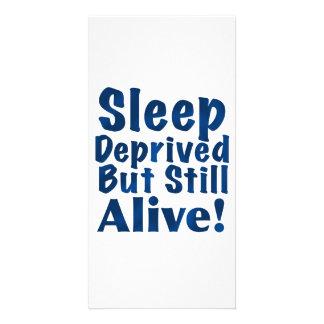Sleep Deprived But Still Alive in Dark Blue Card