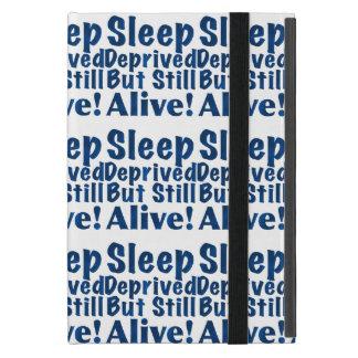 Sleep Deprived But Still Alive in Dark Blue Case For iPad Mini