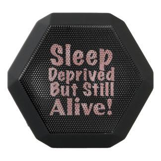 Sleep Deprived But Still Alive in Dusty Rose Black Bluetooth Speaker