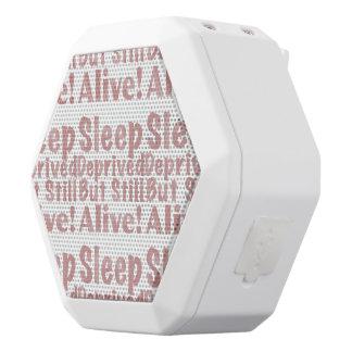 Sleep Deprived But Still Alive in Dusty Rose White Bluetooth Speaker