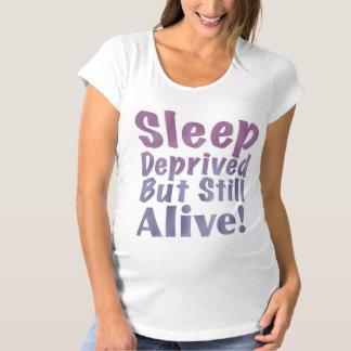 Sleep Deprived But Still Alive in Sleepy Purples Maternity T-Shirt