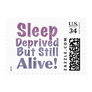 Sleep Deprived But Still Alive in Sleepy Purples Postage