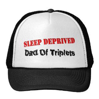 Sleep Deprived Dad Of Triplets Trucker Hats