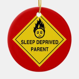 Sleep Deprived Parent Ceramic Ornament