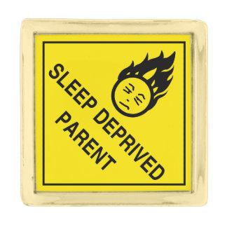 Sleep Deprived Parent Gold Finish Lapel Pin