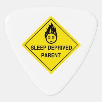 Sleep Deprived Parent Guitar Pick by scribbleprints at Zazzle