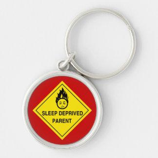 Sleep Deprived Parent Keychain