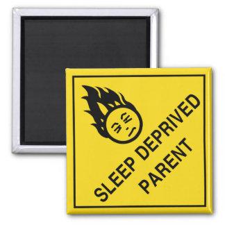 Sleep Deprived Parent Magnet 2 Inch Square Magnet