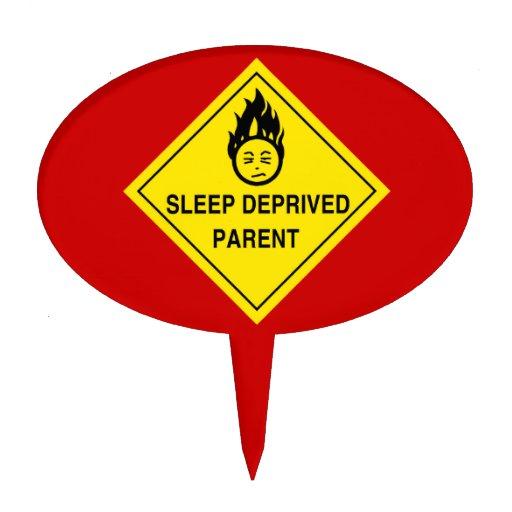 Sleep Deprived Parent Oval Cake Pick