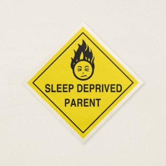 Sleep Deprived Parent Paper Napkin