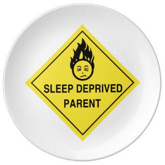 Sleep Deprived Parent Porcelain Plate