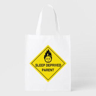 Sleep Deprived Parent Reusable Grocery Bag