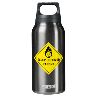 Sleep Deprived Parent 10 Oz Insulated SIGG Thermos Water Bottle