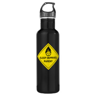 Sleep Deprived Parent Stainless Steel Water Bottle