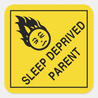 Sleep Deprived Parent Stickers Square Sticker