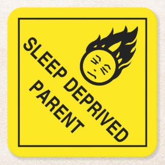 Sleep Deprived Parent Square Paper Coaster