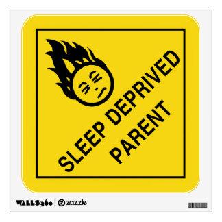 Sleep Deprived Parent Wall Sticker