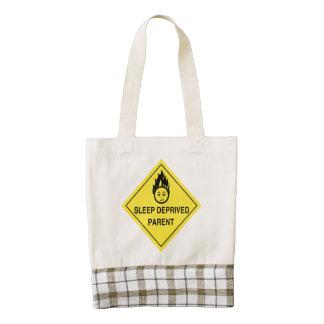 Sleep Deprived Parent Zazzle HEART Tote Bag