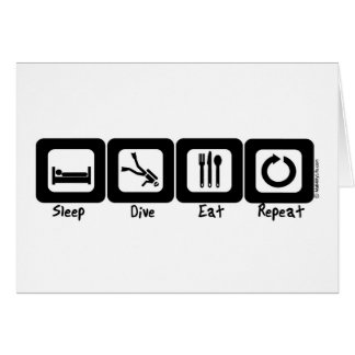 Sleep Dive Eat Repeat Card