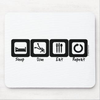 Sleep Dive Eat Repeat Mouse Pad
