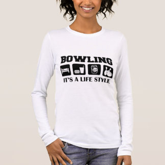 Sleep Eat Drink Beer & Bowling Long Sleeve T-Shirt