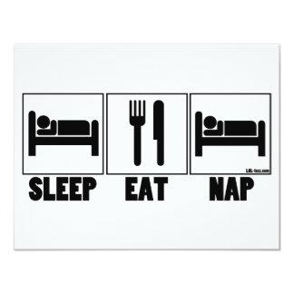 Sleep Eat Nap Card