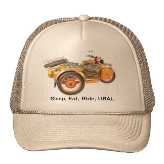 Sleep, Eat, Ride, URAL Trucker Hat