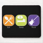 Sleep Eat-Rock Mouse Mat