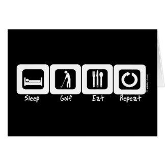 Sleep Golf Eat Repeat Card