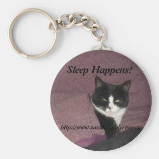 Sleep Happens Keychain