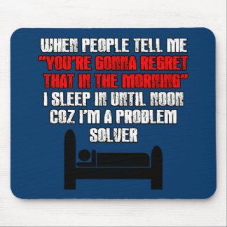 Sleep humour mouse pad