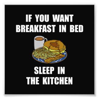 Sleep In Kitchen Photo Print