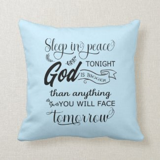 Sleep In Peace Throw Pillow