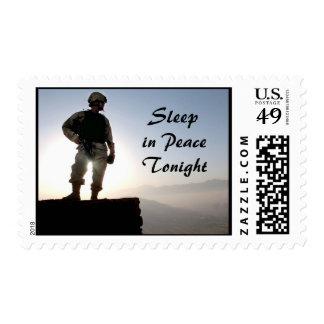 Sleep in Peace Tonight Military Postage Stamp