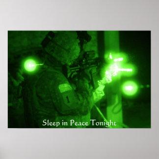 """""""Sleep in Peace Tonight"""" Poster"""