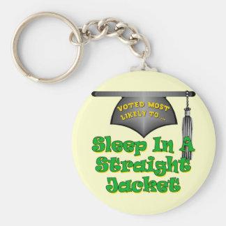 Sleep In Straight Jacket Key Chains