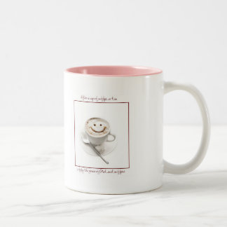 Sleep is a symptom of caffeine deprivation Two-Tone coffee mug