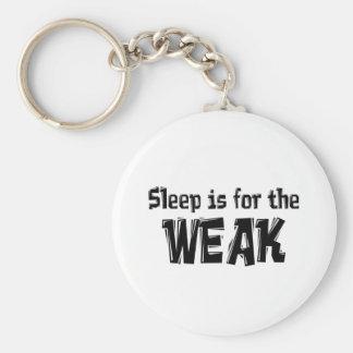 Sleep is for the Weak Item Basic Round Button Keychain