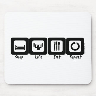 Sleep Lift Eat Repeat Mouse Pad