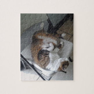 Sleep Like a Cat Keychain Jigsaw Puzzle