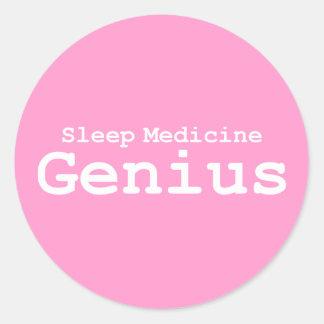 Sleep Medicine Genius Gifts Classic Round Sticker