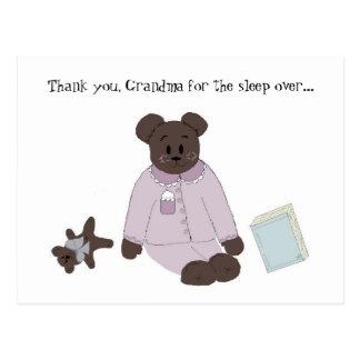 Sleep Over Thank You Postcard