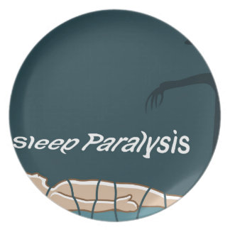 Sleep Paralysis supernatural event and condition Melamine Plate