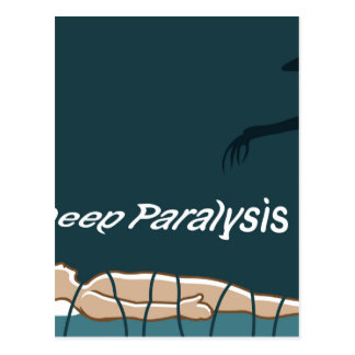 Sleep Paralysis supernatural event and condition Postcard