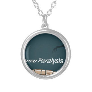 Sleep Paralysis supernatural event and condition Round Pendant Necklace