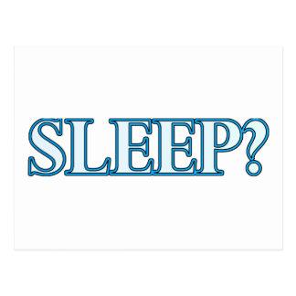 Sleep? Postcard
