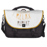 Sleep, Relax, Repeat Calico Cat Bag For Laptop