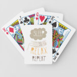 Sleep, Relax, Repeat Calico Cat Bicycle Card Deck