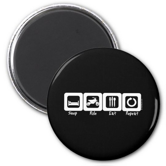 Sleep Ride Eat Repeat 2 Inch Round Magnet
